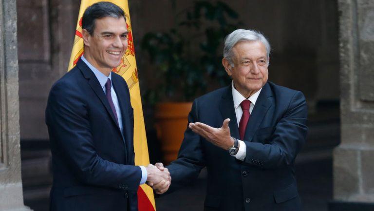 AMLO recibe a Pedro Sánchez, presidente del gobierno de España