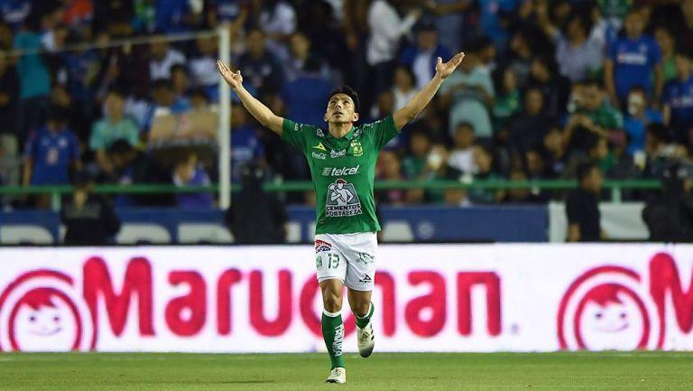 Ángel Mena tras su anotación a Cruz Azul