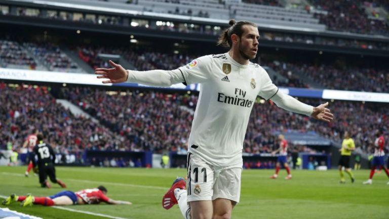 Gareth Bale festeja su anotación frente al Atlético de Madrid