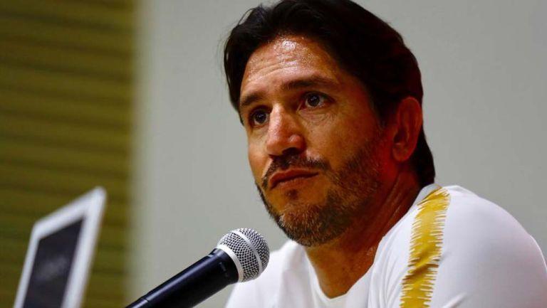 Bruno Marioni en conferencia de prensa