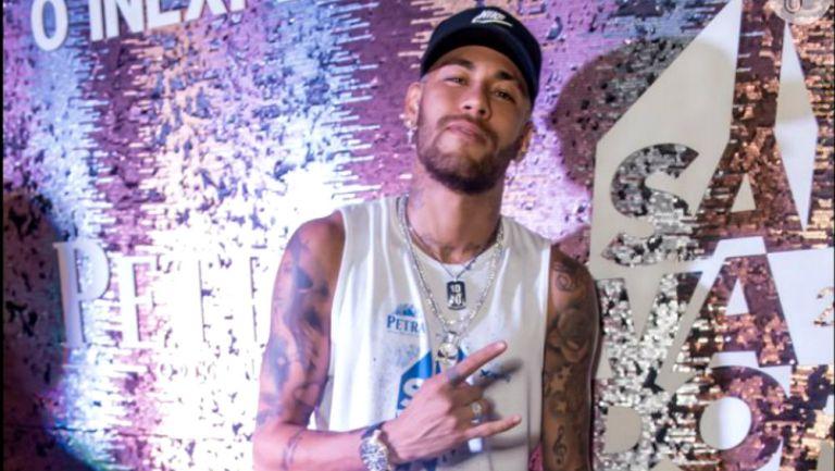 Neymar durante el carnaval de Salvador