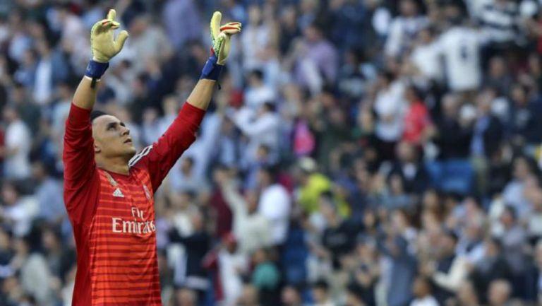 Navas festeja triunfo del Real Madrid vs Celta