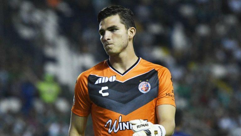 Sebastián Jurado durante el juego contra León