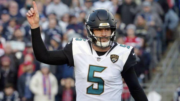 Blake Bortles durante un partido con los Jaguars