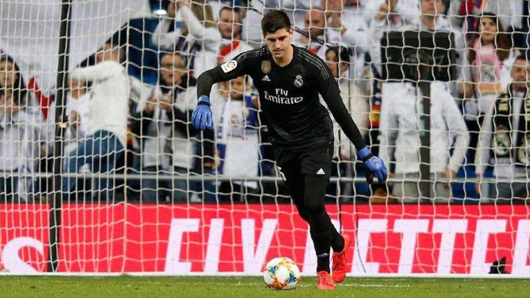 Thibaut Courtois, durante un juego con el Real Madrid