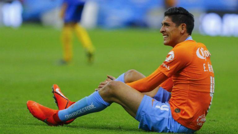 Álvarez, durante el partido contra Tigres