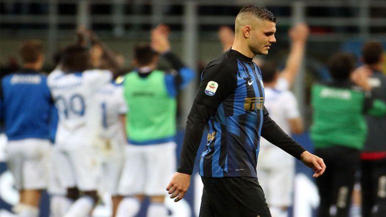 Icardi durante un partido con el Inter
