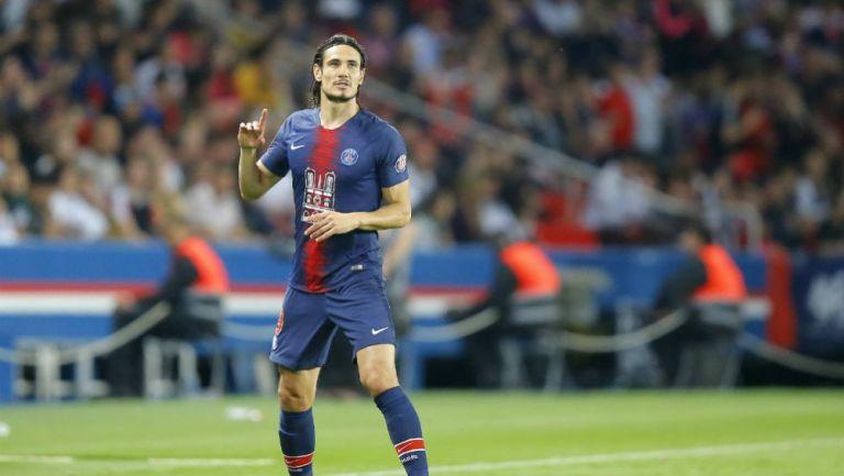 Cavani, en el partido contra Mónaco
