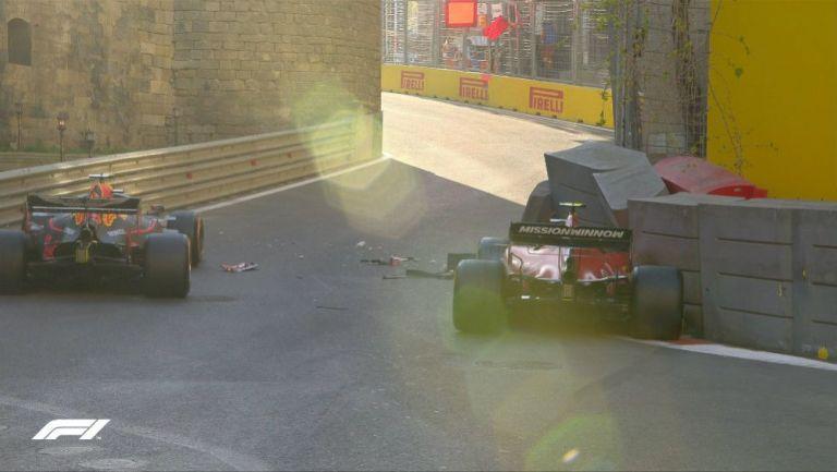 Accidente de Charles Leclerc en el GP de Azerbaiyán