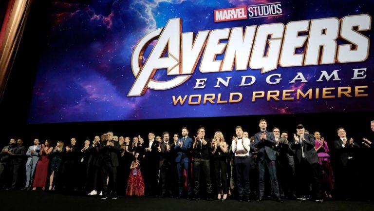 Elenco de Marvel durante la premier de Avengers: Edgame