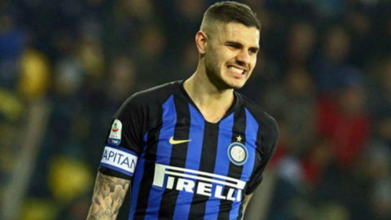 Mauro Icardi en un partido del Inter de Milán