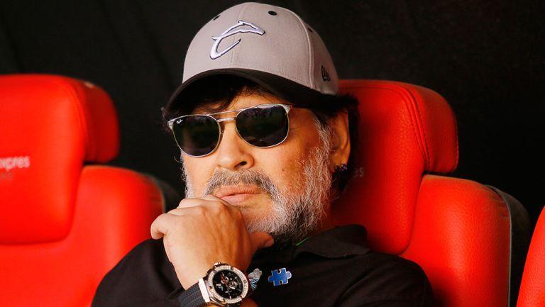Maradona durante la Final ante San Luis