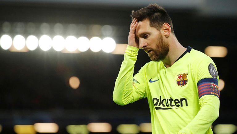 Messi lamenta la eliminación ante Liverpool en la Champions League