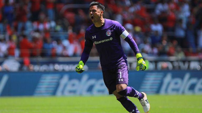 Alfredo Talavera en partido con Toluca