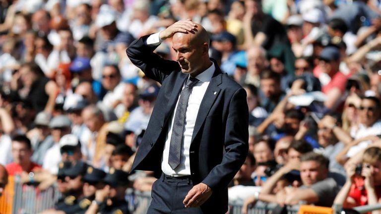 Zinedine Zidane durante un juego del Real Madrid