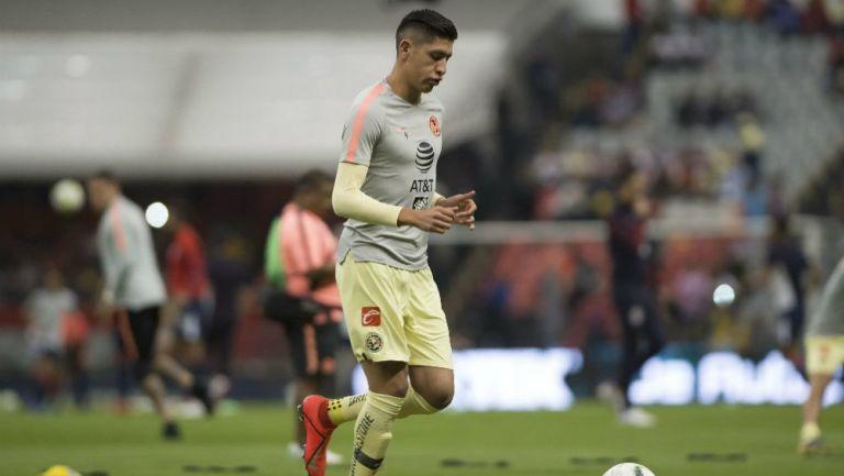 Edson Álvarez previo a un juego con el América