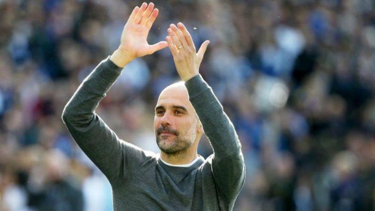 Guardiola festeja triunfo de Manchester City