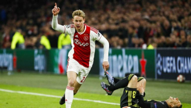 Frenkie de Jong, durante el Ajax vs Juventus de Champions