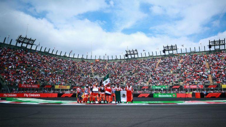 Grada del AHR durante el Gran Premio de México en 2018