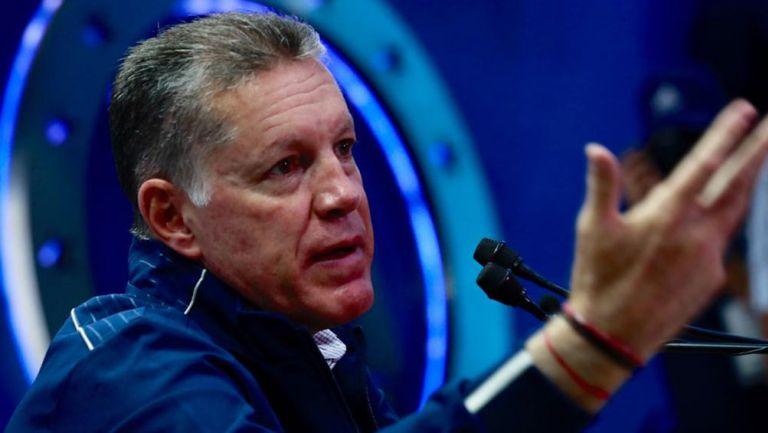 Ricardo Peláez en conferencia de prensa