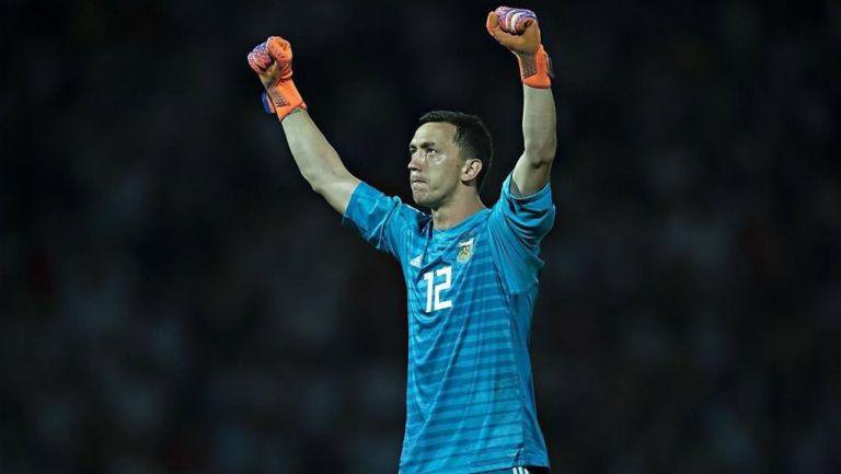 Agustín Marchesín agradece a la afición de Argentina