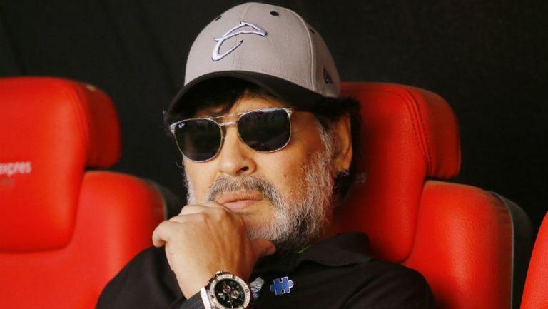 Maradona, en la Final de Ascenso contra San Luis