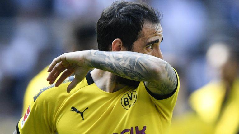Paco Alcácer durante un juego del Borussia Dortmund