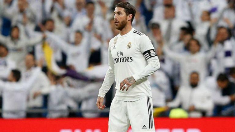 Sergio Ramos durante un encuentro del Real Madrid