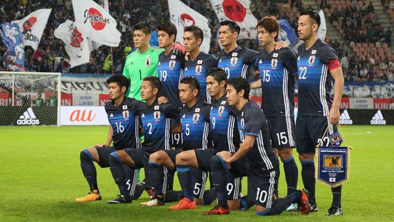 Selección mayor de Japón previo a un partido