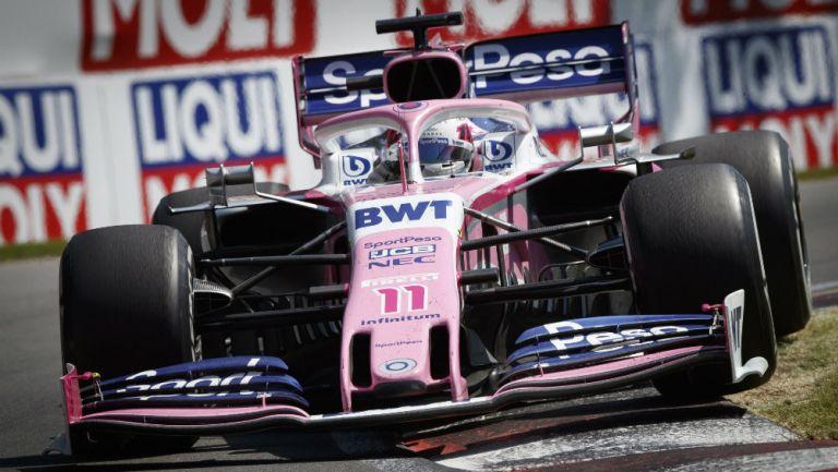 Sergio Pérez durante el Gran Premio de Canadá