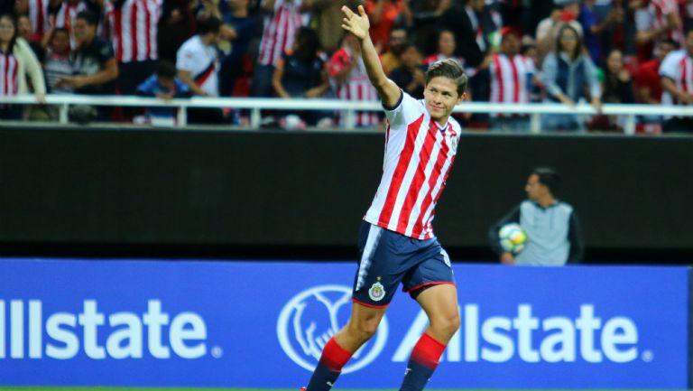 Jesús Godínez en un partido con Chivas