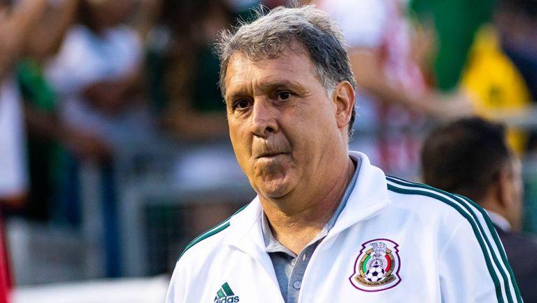Gerardo Martino en el partido contra Cuba