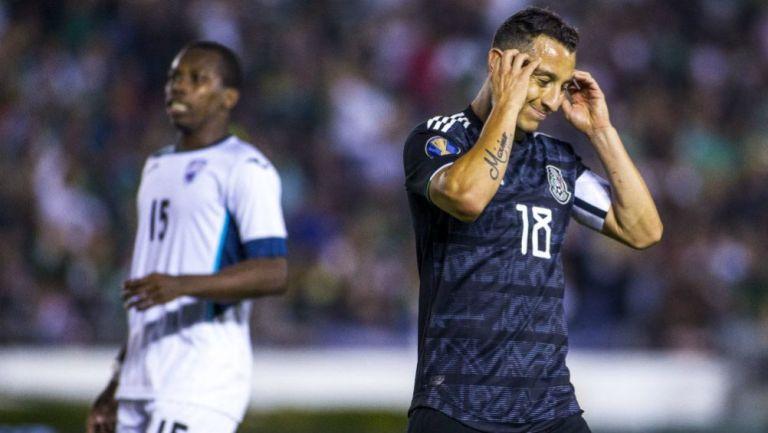 Guardado, en el partido contra Cuba