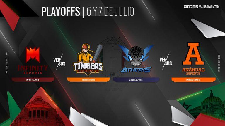 Infinity, Timbers, Atheris y Anáhuac son los cuatro equipos que avanzaron a Playoffs