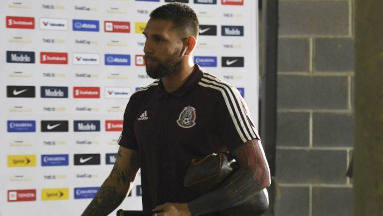 Orozco llega al inmueble para el duelo contra Martinica