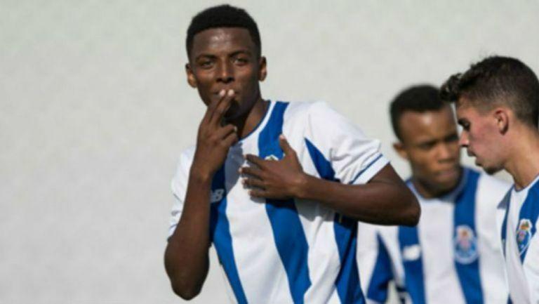Joao Maleck celebra un gol cuando militaba en el Porto
