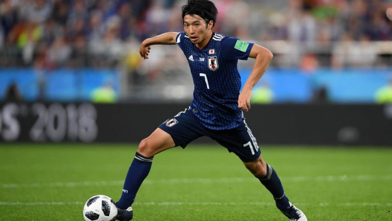 Gaku Shibasaki, durante un partido con Japón.