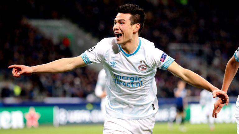 Hurving Lozano festeja anotación con el PSV
