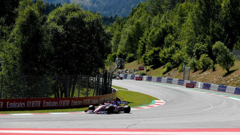 Pérez durante las prácticas del GP de Austria