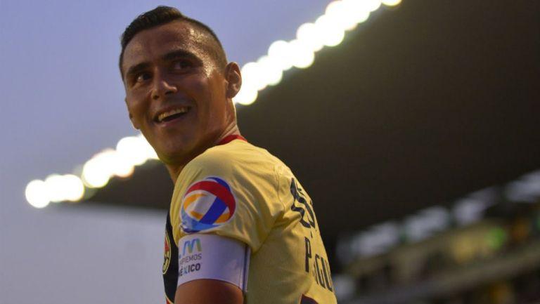 Paul Aguilar, en un partido del América