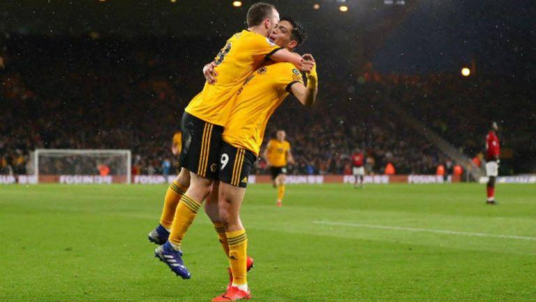 Jota y Jiménez festejan gol