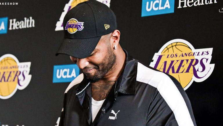 DeMarcus Cousins, en su presentación con Lakers