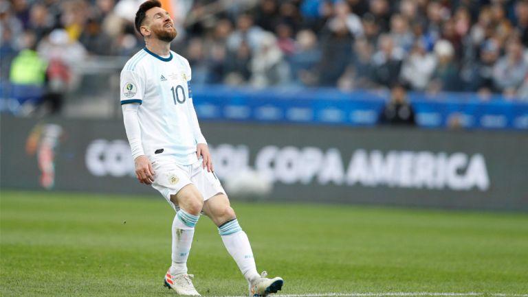Lionel Messi, en lamento durante un juego con Argentina