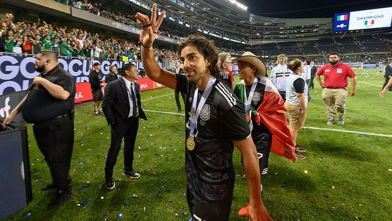 Rodolfo Pizarro después de la Final de Copa Oro