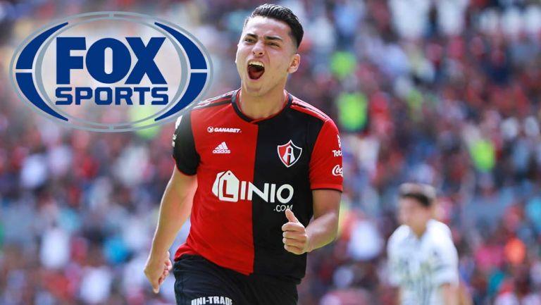 Jairo Torres celebra un gol con Atlas
