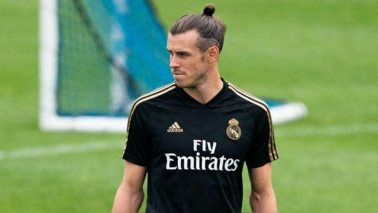 Gareth Bale, en un entrenamiento con el Real Madrid