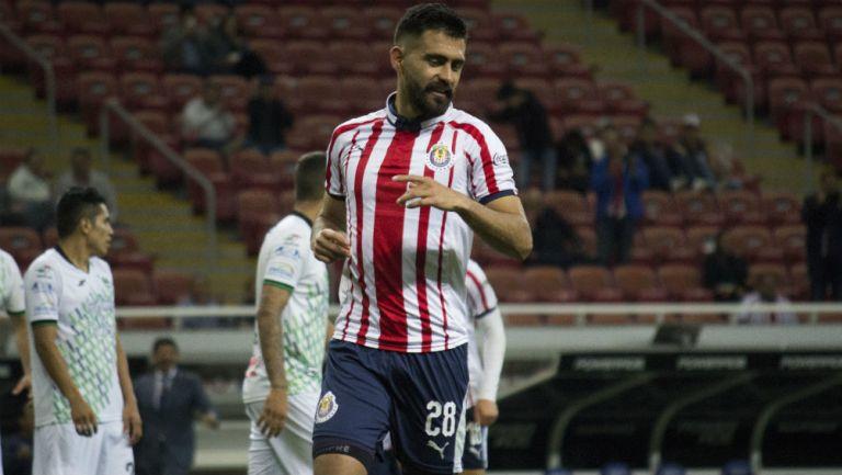 Miguel Basulto se lamenta en un juego de Chivas