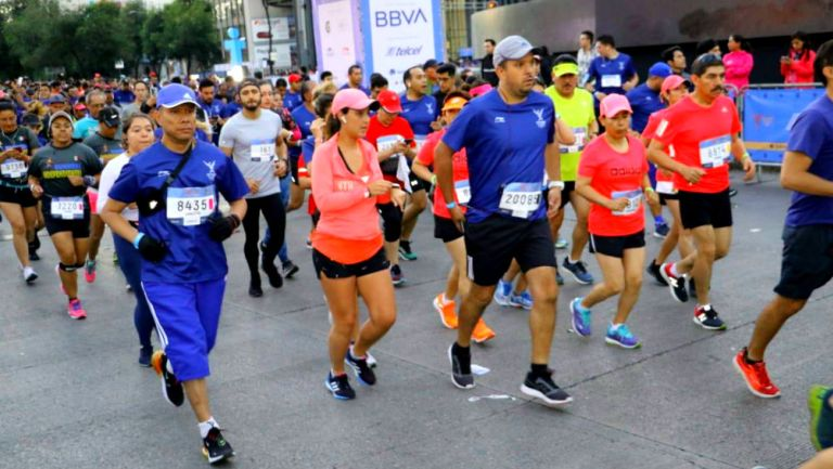 Participantes del Medio Maratón de la Ciudad de México