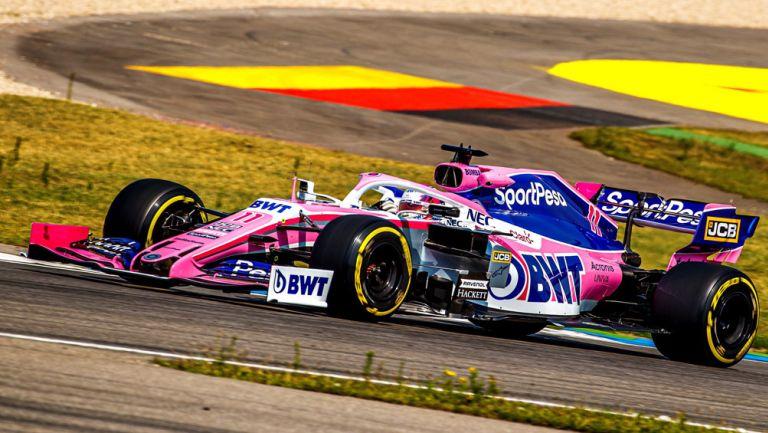 Sergio Pérez, durante una vuelta en el GP de Alemania