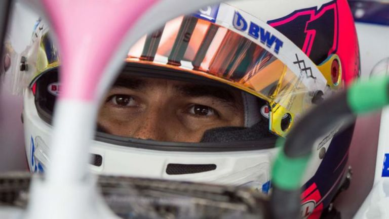 Sergio Pérez, durante una carrera